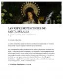 Las Representaciones de Santa Eulalia