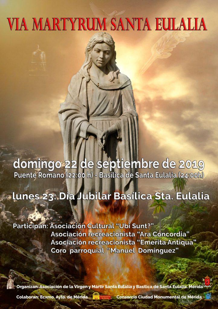 Mérida recrea el Via Martyrum de Santa Eulalia