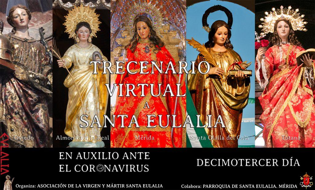 Mensaje clausura Trecenario Virtual a Santa Eulalia