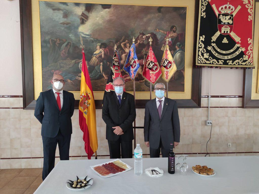 La Asociación de la Virgen y Mártir Santa Eulalia asiste a la toma de posesión del nuevo Jefe del GACA XI