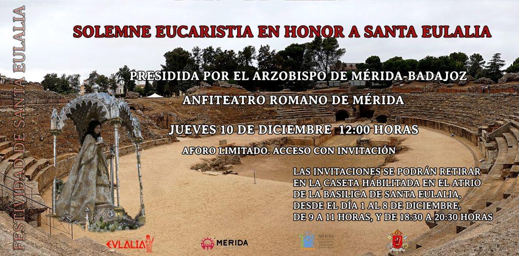 La Festividad de Santa Eulalia se celebrará en el Anfiteatro romano de Mérida